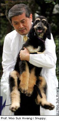 Woo Suk Hwang i Snuppy, sklonowany pies